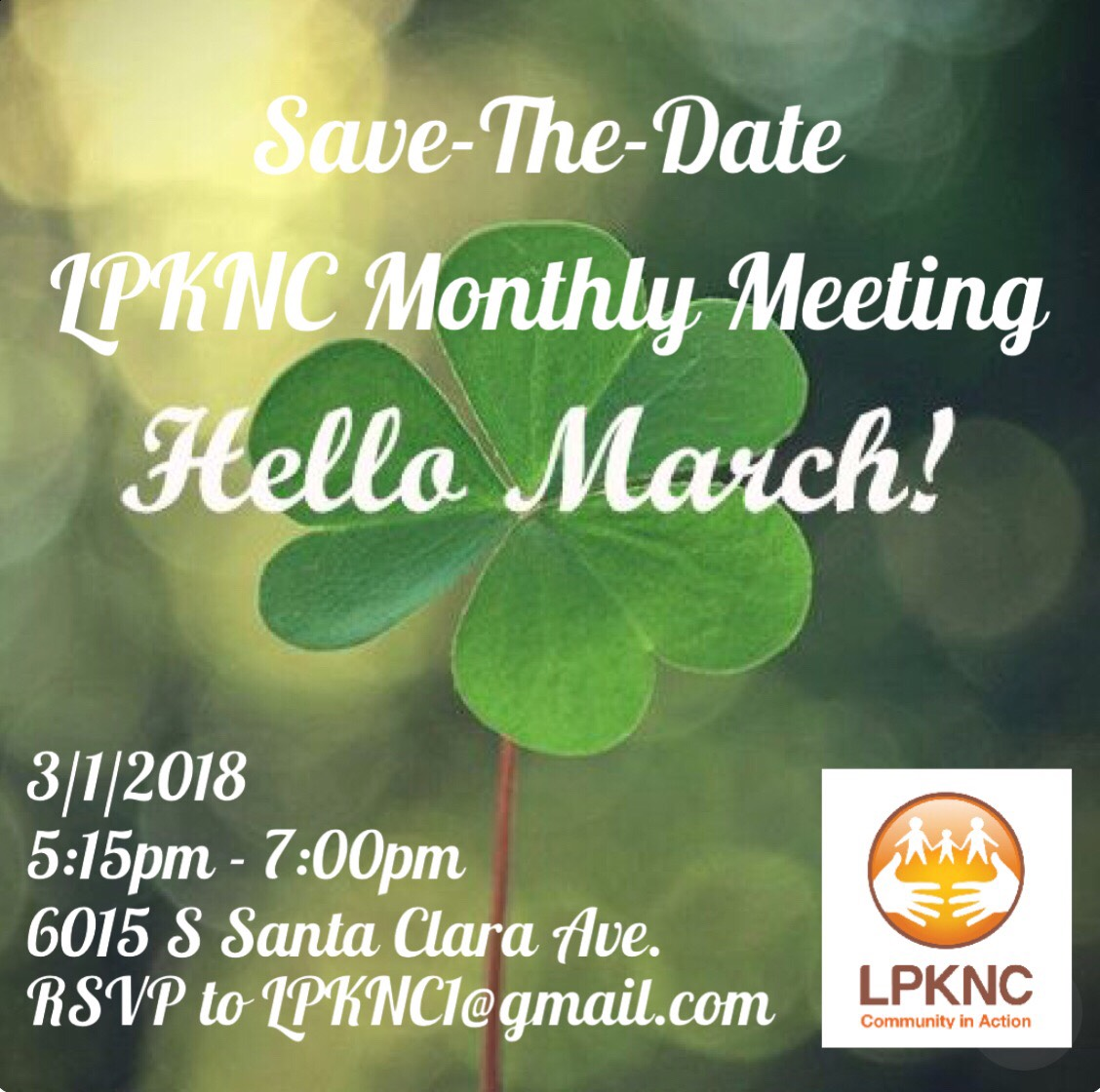 LPKNC March 1 Meeting